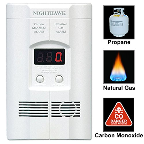 Kidde AC Plug-in Carbon Monoxide and Explosive Gas Detector Alarm | Nighthawk...
