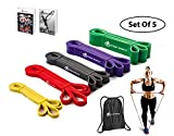 INTENT SPORTS Pull up Assist 5 Bands Set – Assistance and Resistance Bands for...