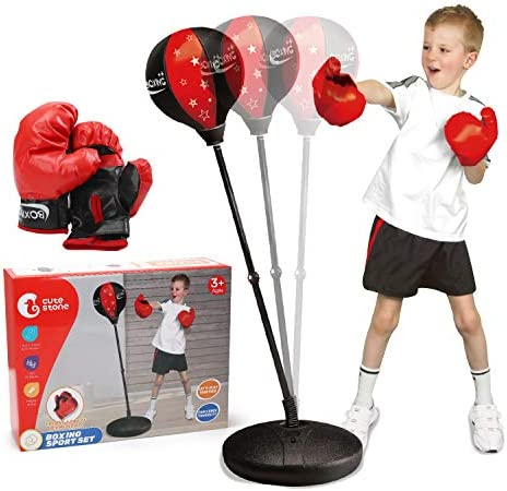 CUTE STONE Punching Bag with Boxing Gloves Boxing Bag for Kids Boxing Toy with Adjustable Stand product image