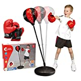 CUTE STONE Punching Bag with Boxing Gloves, Boxing Bag for Kids, Boxing Toy with Adjustable Stand for Boys and Girls