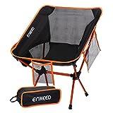 ENKEEO Silla de Camping Ultraligero Portátil Plegable con Bolsa de Transporte, Capacidad hasta 330lbs/150kg, para...