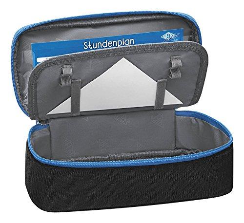 Wedo 24243010 Mäppchen Schlamperbox, Polyester, Innenklappe, Reißverschlussfach Schwarz