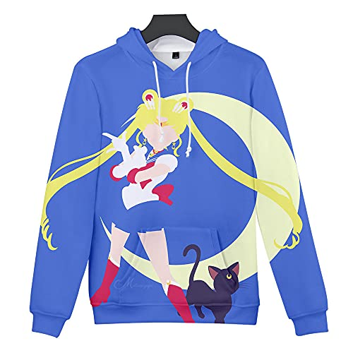 Chico Chica 3D Estampado Anime Sailor Moon Sudaderas Unisex Cosplay Otoño E Invierno Hoodies Classic Linda...