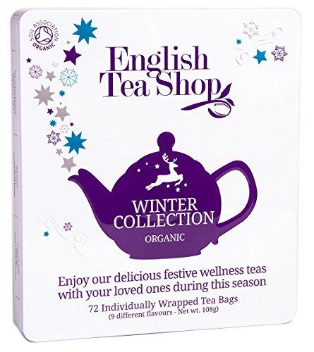 """English Tea Shop - Winter Tee-Kollektion in edler Metalldose """"Winter Collection"""", BIO, 72 x Teegenuss (9x8) in schöner Geschenkbox"""