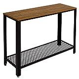 Meerveil Table de Console Table d'entrée Bout de Canapé Table Café, Style Vintage Industriel, pour Salon, Entrée, Chambre,...
