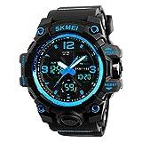 Herren digitale Uhren, Sport digitaluhr analog 50M wasserdichte Armbanduhr Militär mit Wecker,...