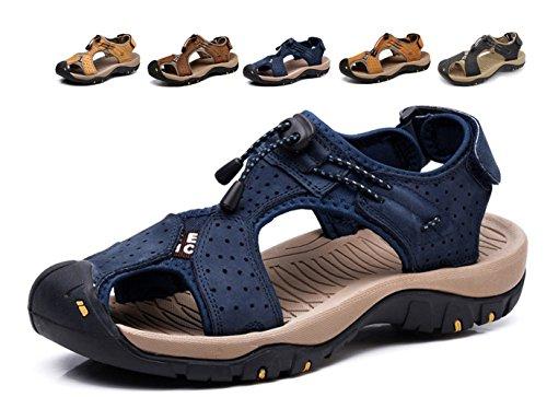 Sandali sportivi estivi da uomo, in pelle,...