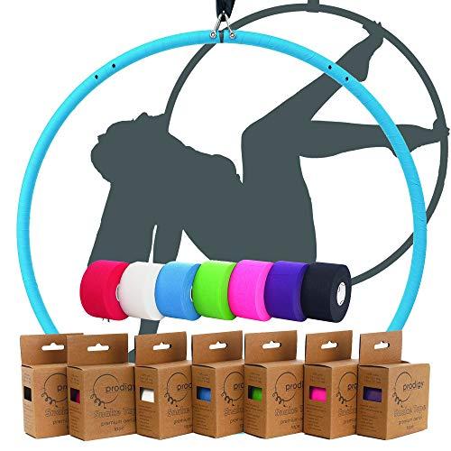 Prodigy Aerial - Cinta de serpiente de aro profesional, diseñada para Lyra y trapecio (rosa caliente)