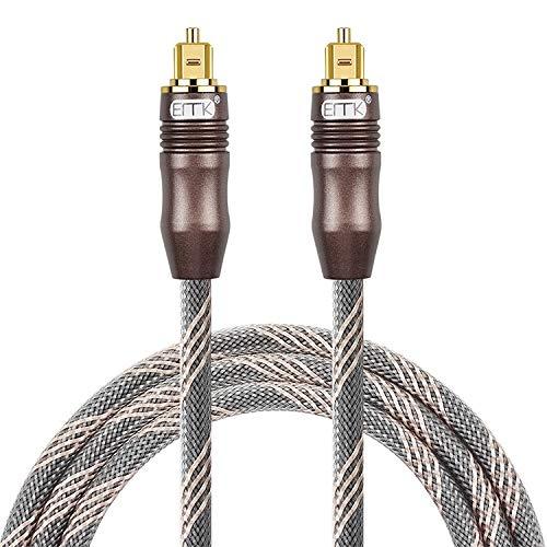 MyEstore Los Cables ópticos Gran 20m OD6.0mm Toslink Plaza Puerto de Fibra óptica de Audio Digital Puerto Plaza de TV Cable de conexión