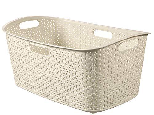 CURVER Wäschekorb My Style 49l in Creme, Plastik, 35 x 25 x 10 cm