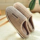 LJXLXY Zapatillas de Mujer de casa Otoño e Invierno doméstico en el Interior del hogar de Espesor Inferior Zapatillas de algodón Masculina Algodón SPA Zapatillas (Color : A, tamaño : 42/43)