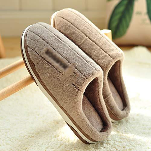 XIAOSAKU Zapatillas Mullidas Otoño e Invierno doméstico en el Interior del hogar de Espesor Inferior Zapatillas de algodón Masculina Zapatillas de Estar por Casa Invierno (Color : A, Size : 40/41)