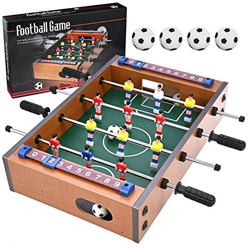 GOLDGE Futbolín de mesa, futbolín multijuego, futbolín para niños y adultos, con...