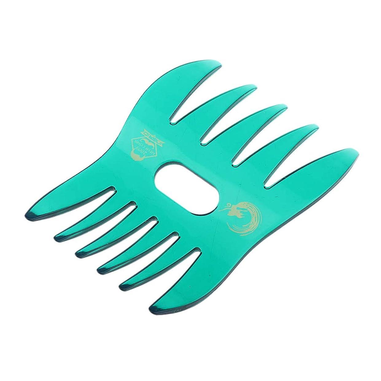 質量ピンポイントコンクリートSharplace ヘアコーム デュアルサイド 櫛 くし サロン ヘアスタイル 4色選べ - 緑