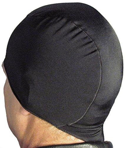 WickIt! Motorcycle Helmet Liner - Skull Cap - Doo Rag in Classic Black