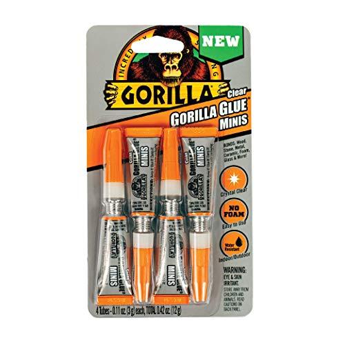 Gorilla 45 Clear Gorilla Glue: 3 Gram Tubes   4-Pack (Clear)   4-Pack