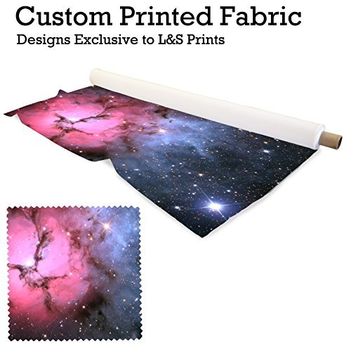 Galaxy 6Design Digital Print Stoff gewebt Chiffon 149,9cm Breite hergestellt in Yorkshire