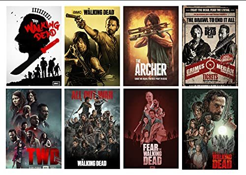 The Walking Dead Poster Horror Movie Modern Office Family Bedroom Decorative 11.5 x 16.5 inches