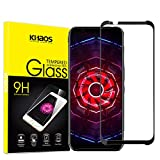 for ZTE Nubia Red Magic 3 2019 6.65-inch Screen Protector, KHAOS Full Screen Coverage Tempered Glass Screen Protector 9H HD-Clear Ant-Scratch Glass Protector -Black