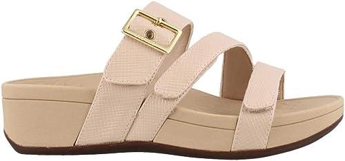 Vionic damen& 39;s Pacific Rio Platform Sandal - Ladies Adjustable Slide Sandal with Concealed Orthotic Arch Support