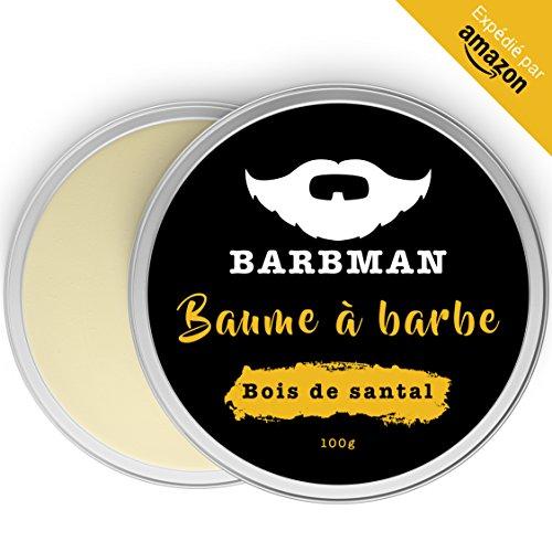 BARBMAN : Bálsamo de Barba (100ml) enriquecido con aceite de Jojoba y manteca de cacao para hidratar y nutrir pieles y barbas. Arregla la barba aportándole brillo y suavidad. Regalo para barbudos