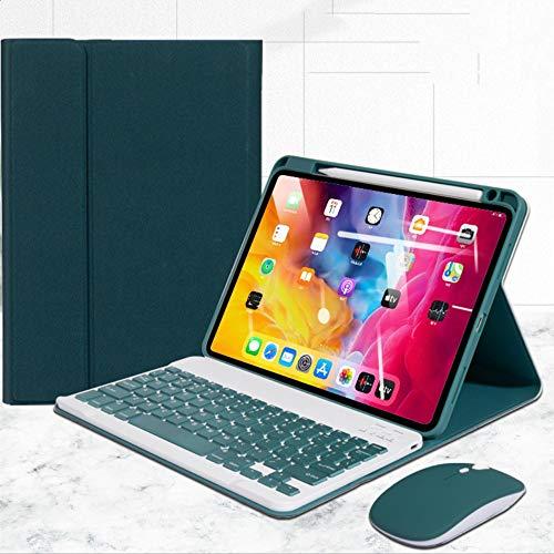 "Capa para teclado para iPad 8 2020, teclado Bluetooth removível [suporte para lápis embutido] 8ª geração de 10,2"" capa para teclado (iPad 8 10.2, verde escuro)"