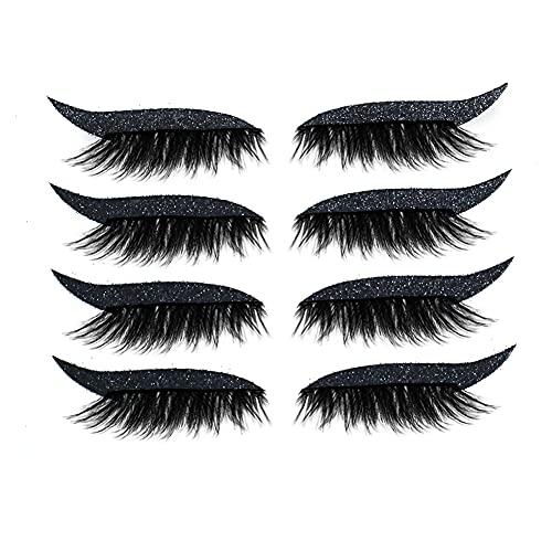 Etiquetas Engomadas Delineador Reutilizables, Plantilla De Ojos, Palo Impermeable En Elineador De Ojos Maquillaje Negro