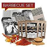 BBQ Geschenk Set Grillgeschenk | Grill Geschenkset mit BBQ Rubs & Steak Pfeffer Geschenkidee für...