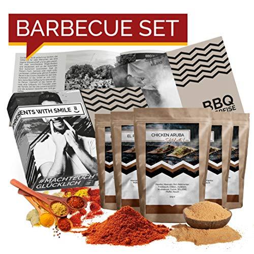 BBQ Geschenk Set Grillgeschenk   Grill Geschenkset mit BBQ Rubs & Steak Pfeffer Geschenkidee für Männer Freund   Gewürzset BBQ Geschenk Box Geburtstag