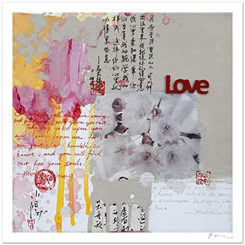 Reproducción de arte - Love - sobre papel de acuarela 300g/m² con textura, de alta calidad: Amazon.es: Handmade