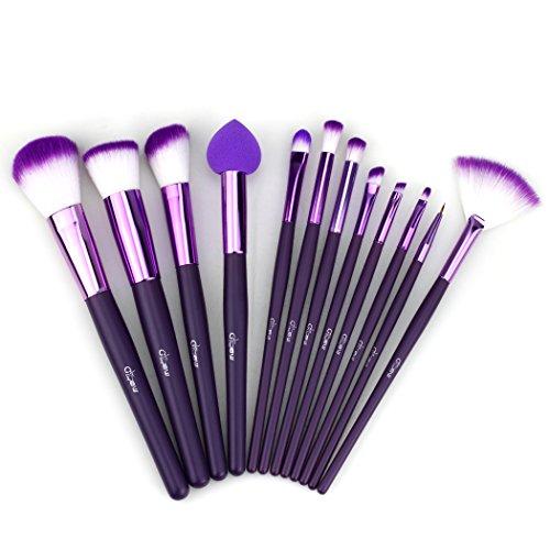 Glow 30 qualité professionnelle Pinceaux de maquillage (12 Lot de pinceaux de maquillage, Violet)