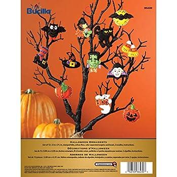 Bucilla Halloween Felt Applique Ornaments Kit  Size 2 2.5-Inch  Set of 12 6 Count