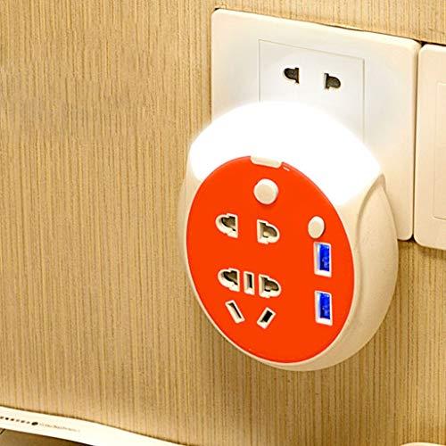 TXTC Plug-in-nachtlampje, nachtlampje, stopcontact, verlengstuk, warm wit, led nachtlampje, voor slaapkamer, badkamer, keuken, hal