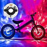 Teguangmei LED Luz de Rueda de Bicicleta,Luz de Radios de Bicicleta Recargable USB Impermeable IP65 con 7 Colores+18 Modos,Luces Decorativas Para Accesorios Para Bicicletas Para Adultos y Niños -1Pcs