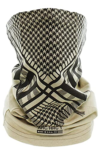 BENCHMARK FR Shemagh Flame Resistant Face Mask Neck Gaiter, One Size, Beige