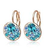 AMTBBK Frauen Zircon Ohrringe - 4 Farben Runde Stein Zircon Ohrringe Hypoallergen Brautmode Schmuck Ohrringe Für Frau,A