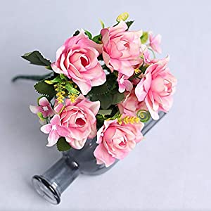 Artificial and Dried Flower 1pc Gardenia Artificial Silk Flower Bouquet Handmade Flowers Wedding Party Decoration Rose Floral