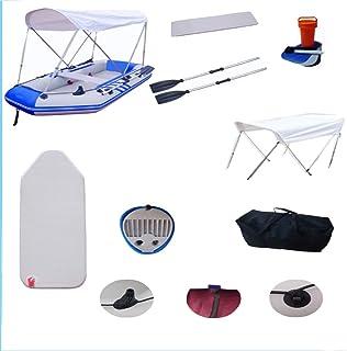 YSYDE Bote Inflable de Goma para 4 Personas con 2 remos de Aluminio y Bomba de pie Carga máxima 536 Kg Pisos de Aluminio para la Pesca fluvial Balsa Barco Deportes acuáticos