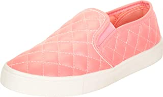 Cambridge Select Women's Slip-On Quilted Round Toe White Sole Flatform Fashion Sneaker