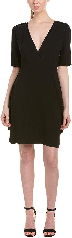 BCBGMAXAZRIA Women's Esmerelda Wrap Front Dress