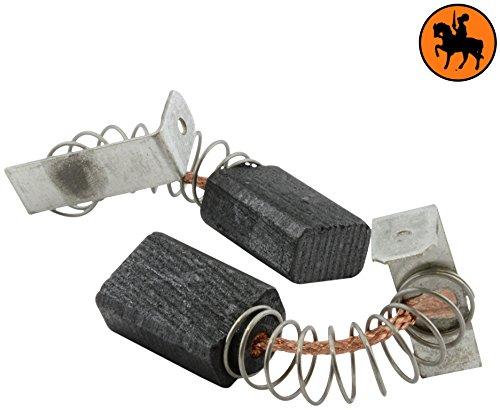 Buildalot Specialty koolborstels ca-07-16580 voor Metabo boormachine SBE560-5x8x12 mm - met veren, kabel en stekker - vervanging voor originele onderdelen 31603387 & 316033870