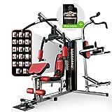 Sportstech HGX200 Multiestación musculación Premium 45en1 Sirve para innumerables Posibilidades de Entrenamiento. Máquina de Pesas Robusta con Torre de tracción