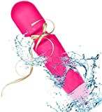 Wand Massager Health-Care Electric Rechargeable Cordless Waterproof Handheld Massage Stick, Multi Speed Vibrations Massage Wand for Body Therapy, Muscle Recovery, Stress Relieve (Pink)