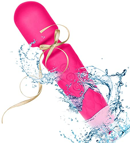 Welist Wand Massager Health-Care Electric Rechargeable Cordless Waterproof Handheld Massage Stick, Multi Speed Vibrations Massage Wand for Body Therapy, Muscle Recovery, Stress Relieve (Pink)