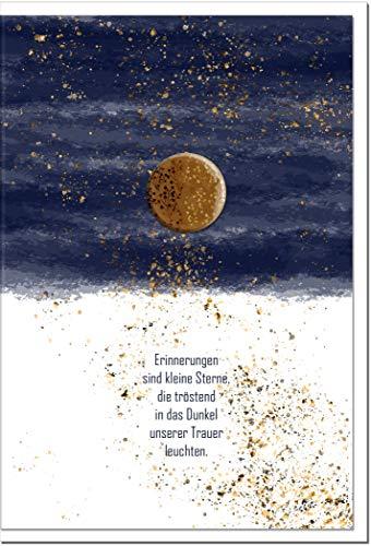 Trauerkarte ZUVERSICHT   Sterne   metALUm # 1001152