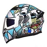 Generic Klappbarer modularer Integralhelm mit Doppelvisier Motorradhelm Mit DOT-Zulassung Motocross-Helm