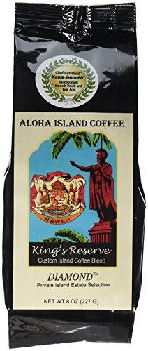 Kona Smooth Hawaiian Coffee, Our Kings Reserve DIAMOND, 8 Oz Whole Bea