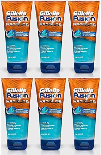 Gillette Fusion Proglide Rasiergel, klar, 175 ml, 6 Stück