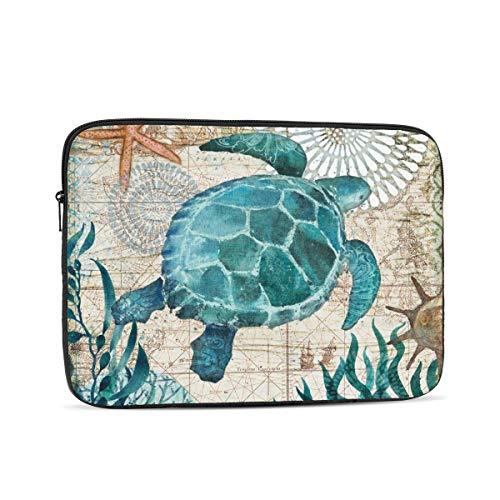 ZOISOKA Tablet Sleeve Bag Case Fits 9-13 Inch for New iPad Air 3 10.5,iPad Pro 10.5inch, iPad mini, Surface Go10, Samsung Galaxy Tab 10.1 iPad case Protective Bag, Fit Apple Smart Keyboard(Sea Turtle)