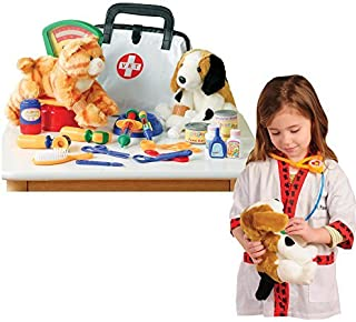 CP Toys Pretend Play Veterinarian 30 Pc. Playset with Child-sized Lab Coat
